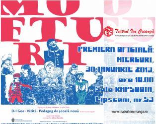 Premiera oficiala: schitele lui Caragiale reunite intr-un spectacol inedit, la Teatrul Ion Creanga